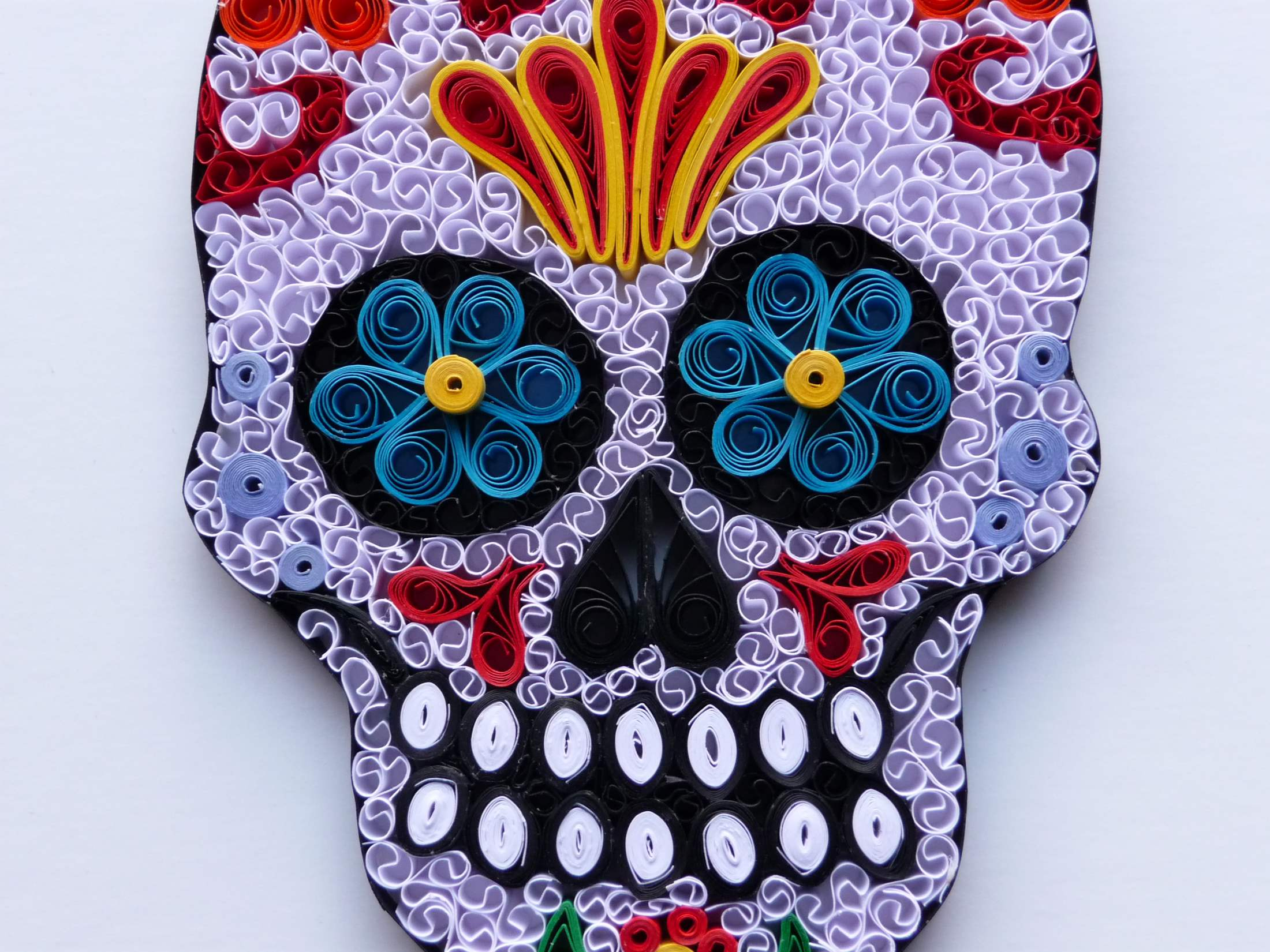 quilling by kath sugar skull
