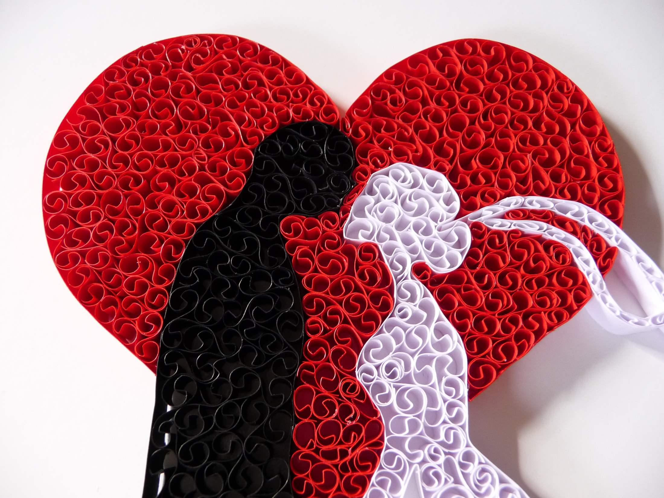 Quilling By Kath Melbourne Quilling Wallart quilled bride and groom close up