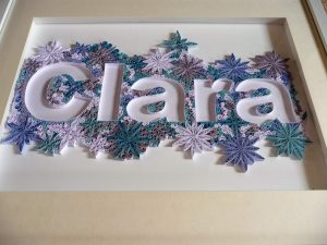 Quilling by kath Quilled name Clara