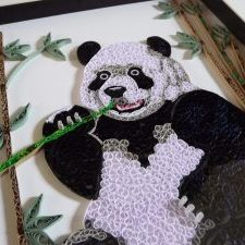Quilling by kath quilled panda
